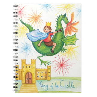 King of the Castle Dragon Slayer Spiral Note Book