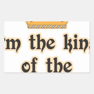 King of the Castle Rectangular Sticker