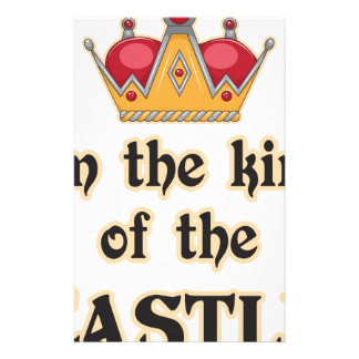 King of the Castle Personalized Stationery