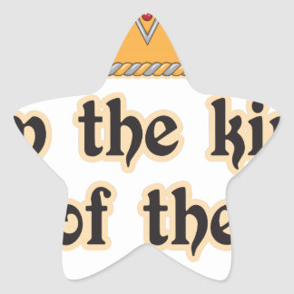 King of the Castle Star Sticker