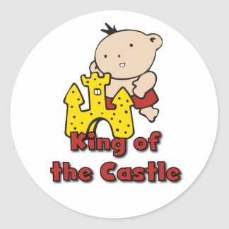 King of the Castle Tshirts and Gifts Round Sticker