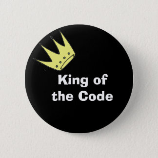 King of the Code 6 Cm Round Badge