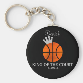 King of The Court Basketball Keychain
