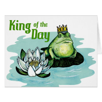 King of the day - Big greeting card