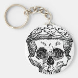 King of the Dead Skull Keychains