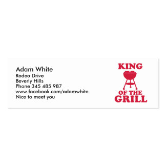 King of the grill - BBQ Business Cards