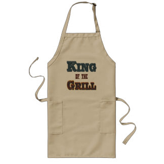 King of the Grill BBQ Cooking Slogan Apron