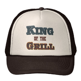King of the Grill BBQ Cooking Slogan Hat
