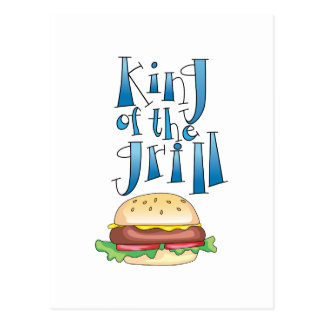King Of The Grill Burger Post Cards