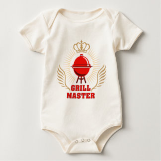king OF the grill grill master Baby Bodysuit