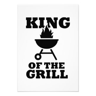 King of the grill custom invite