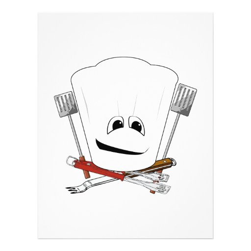 King of the Grill with Chef Hat and BBQ Tools Flyers