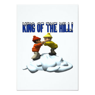 King Of The Hill 13 Cm X 18 Cm Invitation Card