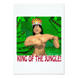 King Of The Jungle 13 Cm X 18 Cm Invitation Card