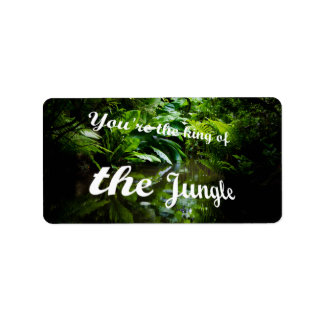 King of the jungle address label