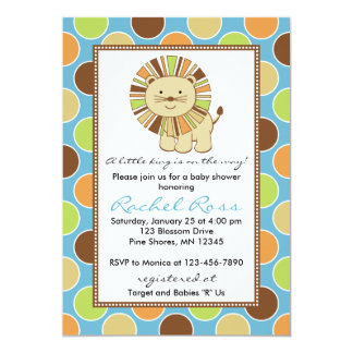 King of the Jungle Baby Shower Invitations │ Blue