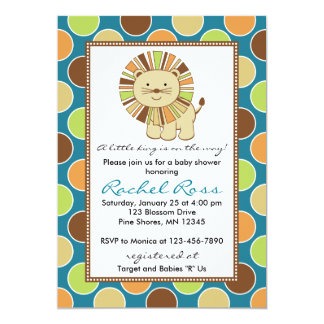 King of the Jungle Baby Shower Invitations │ Teal