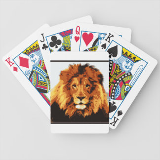 King of the jungle bicycle playing cards