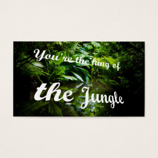 King of the jungle business card