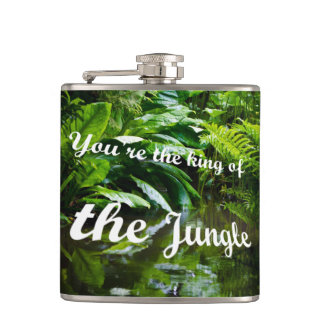 King of the jungle hip flask