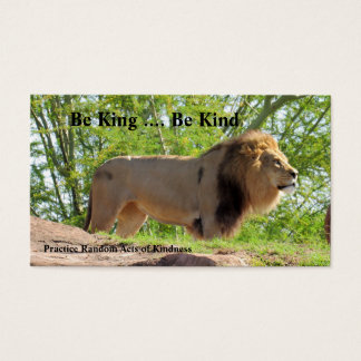 King of the Jungle (Lion) Acts of Kindness Cards