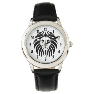 King of the Jungle Lion Face in Black Watch