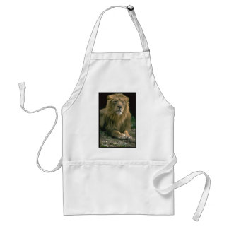 King of the Jungle Lion Image on customizabe items Standard Apron
