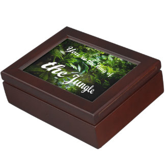King of the jungle memory boxes