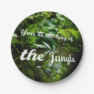King of the jungle paper plate