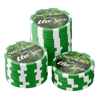 King of the jungle poker chip set