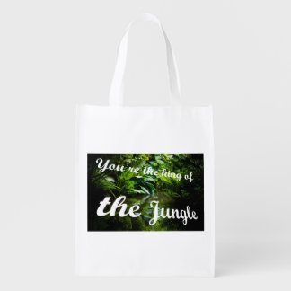 King of the jungle reusable grocery bag