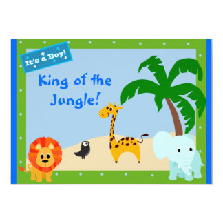 King of the jungle Shower invite