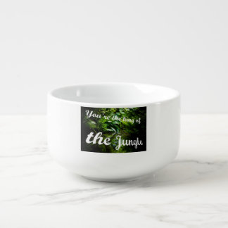 King of the jungle soup mug