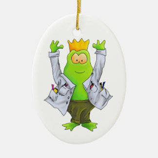 King of the Lab Frog Ornament