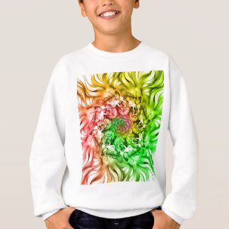 King of the Lion Pride Mandala Circle Rastafarian Sweatshirt