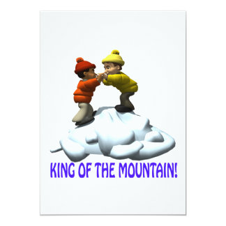 King Of The Mountain 13 Cm X 18 Cm Invitation Card