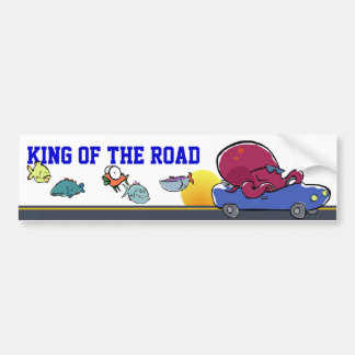 king of the road (customizable!) bumper sticker