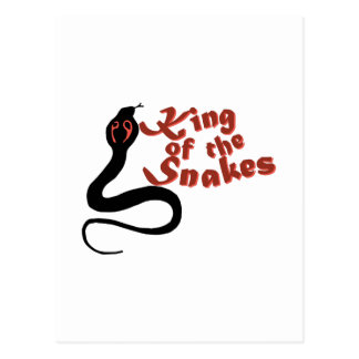 King Of The Snakes Postcard