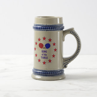 King of the Table Ping Pong Beer Steins