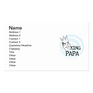 King Papa T-shirts and Gifts Business Cards