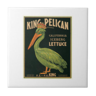 King Pelican Lettuce Vintage Crate Label Tile