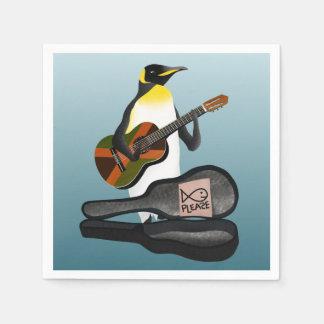 King Penguin Busking Disposable Serviettes