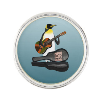 King Penguin Busking Lapel Pin