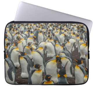 King penguin colony, Falklands Laptop Sleeves