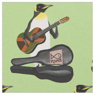 King Penguin Reggae Guitar Fabric