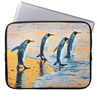 King Penguins at Sunrise - laptop case Computer Sleeves