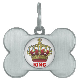 King Pet ID Tag