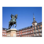 King Philip III Statue at Plaza Mayor in Madrid Post Cards