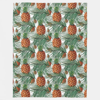 King Pineapple Fleece Blanket