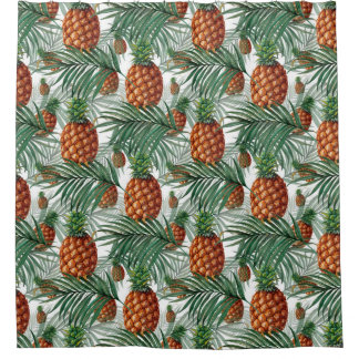 King Pineapple Shower Curtain